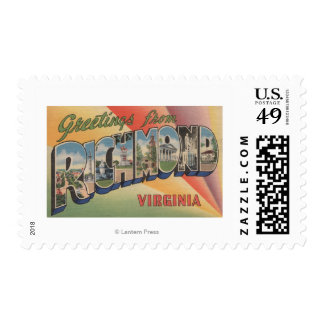 Richmond, Virginia - Large Letter Scenes Postage
