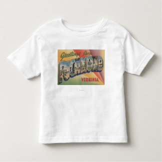 Richmond, Virginia - Large Letter Scenes Toddler T-shirt