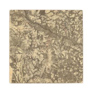 Richmond, Virginia Maple Wood Coaster