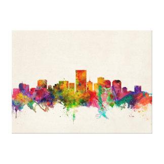 Richmond Virginia Skyline Cityscape Stretched Canvas Print