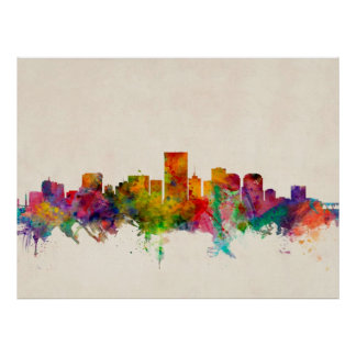 Richmond Virginia Skyline Cityscape Poster