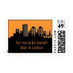 Richmond, Virginia Skyline Postage Stamp