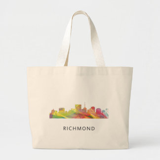 RICHMOND VIRGINIA SKYLINE WB1 - LARGE TOTE BAG