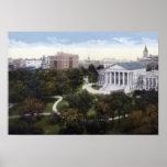 Richmond Virginia State Capitol Birdseye Print