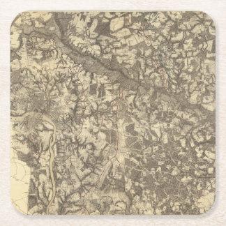 Richmond, Virginia Square Paper Coaster