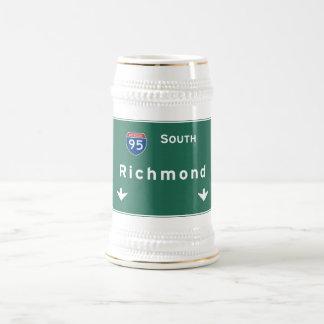 Richmond Virginia va Interstate Highway Freeway : Beer Stein