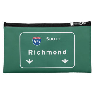 Richmond Virginia va Interstate Highway Freeway : Cosmetic Bag