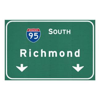 Richmond Virginia va Interstate Highway Freeway : Photo Print