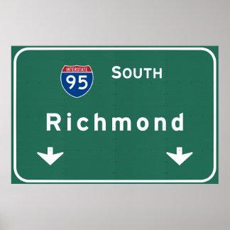 Richmond Virginia va Interstate Highway Freeway : Poster