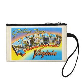 Richmond Virginia VA Old Vintage Travel Postcard- Coin Purse