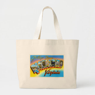 Richmond Virginia VA Old Vintage Travel Postcard- Large Tote Bag