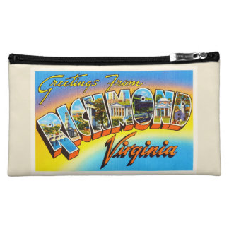 Richmond Virginia VA Old Vintage Travel Postcard- Makeup Bag