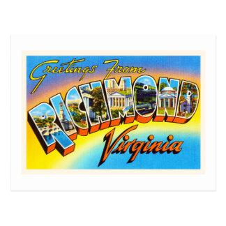 Richmond Virginia VA Old Vintage Travel Postcard- Postcard