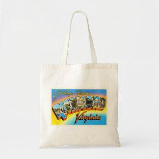 Richmond Virginia VA Old Vintage Travel Postcard- Tote Bag