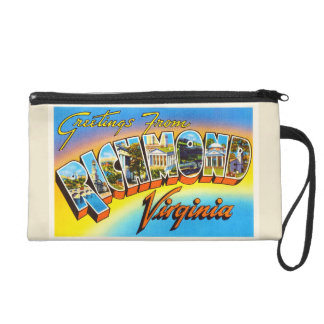 Richmond Virginia VA Old Vintage Travel Postcard- Wristlet