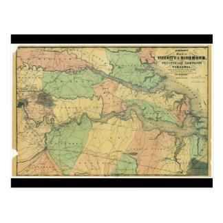 Richmond y campaña peninsular en Virginia 1864 Postales