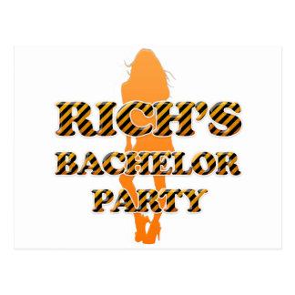 Rich's Bachelor Party Postcard