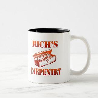 Rich's Carpentry Two-Tone Coffee Mug