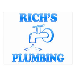 Rich's Plumbing Postcard