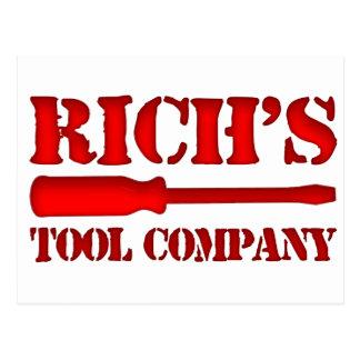Rich's Tool Company Postcard