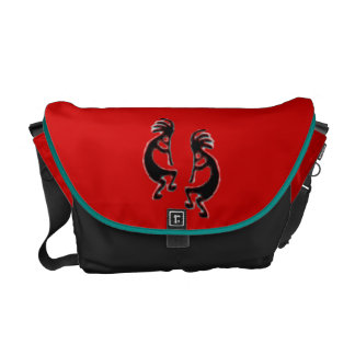 Richshaw Bag with Kokopelli- customize if desired Messenger Bags