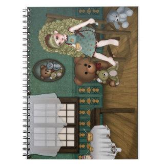 Ricitos Doll book Spiral Notebooks