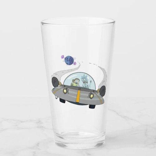 RICK AND MORTY™ | Flying Off In Space Ship Glass