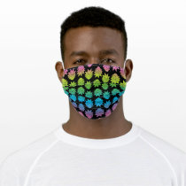 RICK AND MORTY™ | Rainbow Rick Head pattern Adult Cloth Face Mask