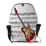 ~ Rick del fondo de la música de la guitarra eléct Bolsa Messenger