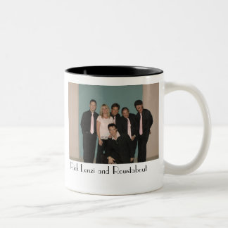 Rick Lenzi and Roustabout Band Two-Tone Coffee Mug