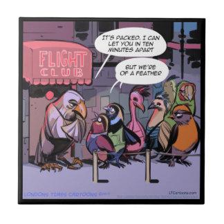 "Rick London ""Birds Of A Feather"" Ceramic Tile"
