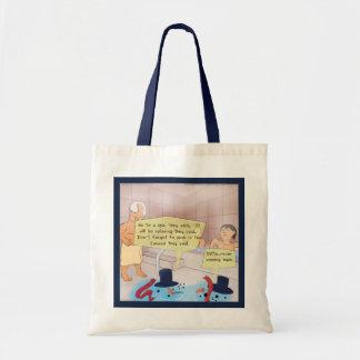 Rick London Comic Snowman Budget Canvas Bag