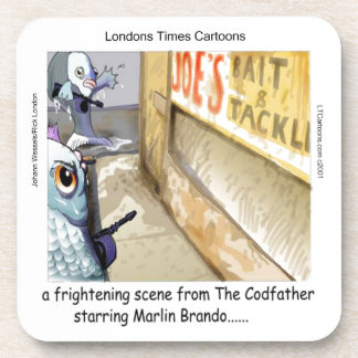 Rick London Fish Mafia Funny Gifts Coaster