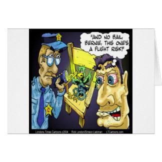 Rick London Funny Criminal Bird Flight Risk Card