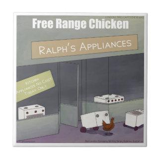 Rick London Funny Free-Range Chicken Ceramic Tile