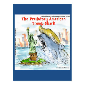 Rick London Funny Trump Shark Postcard