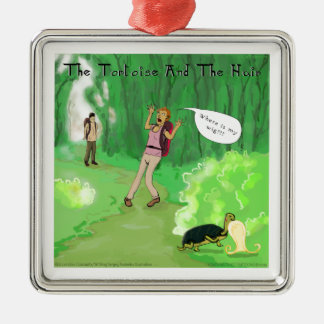 Rick London Turtle And The Wig Hair Funny Metal Ornament