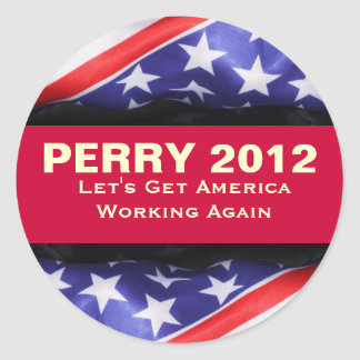 Rick PERRY 2012 Campaign Sticker (Round)