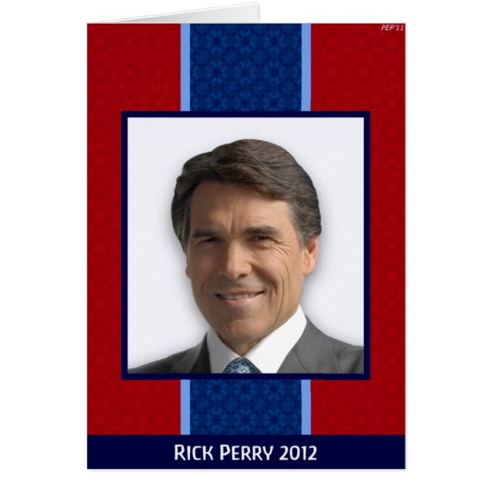 Rick Perry 2012 Card