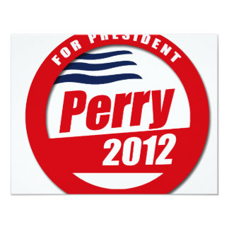 Rick Perry 2012 Invitación 10,8 X 13,9 Cm