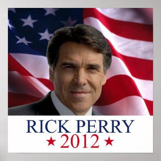 Rick Perry 2012 para la impresión del poster del p