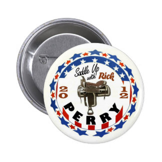 Rick Perry 2012 President Pinback Button
