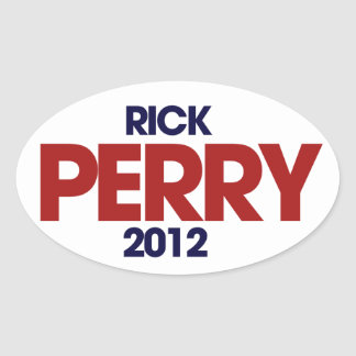 Rick Perry 2012 Oval Stickers
