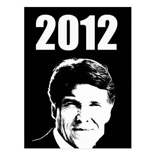 Rick Perry 2012 Tarjetas Postales
