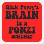 Rick Perry anti Calcomanía Cuadradas Personalizadas