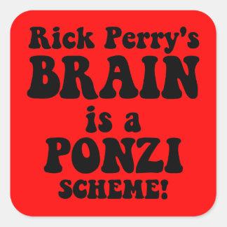 Rick Perry anti Pegatina Cuadrada