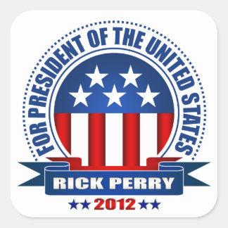 Rick Perry Calcomanías Cuadradass Personalizadas
