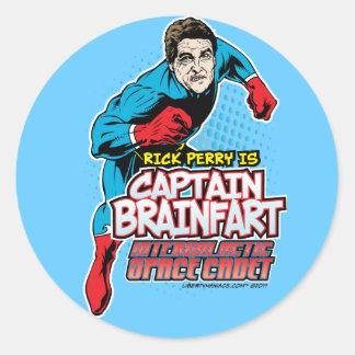 Rick Perry Captain Brainfart Stickers