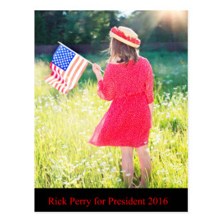 Rick Perry for President 2016 Postcard