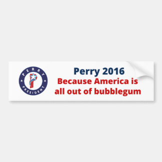 Rick Perry for President Car Bumper Sticker
